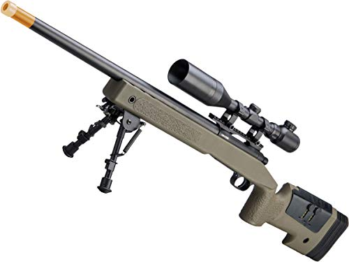 Evike Airsoft - CYMA USMC M40A3 Realistic Cycling Action Airsoft Sniper Rifle (Model: OD Green)