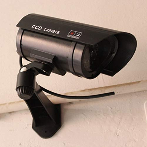 Best Deals! Monitor Security Guard Simulation Surveillance Camera Outdoor Indoor Dummy IR Camera Bui...