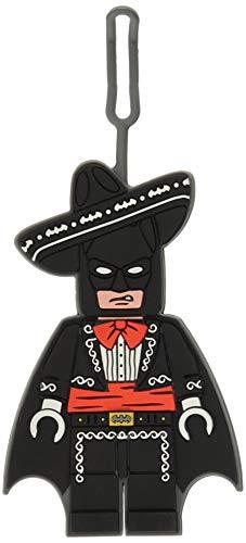 Lego Batman Movie Mariachi Batman Silicone Luggage Bag Tag for Travel, Gym, School, or Backpack