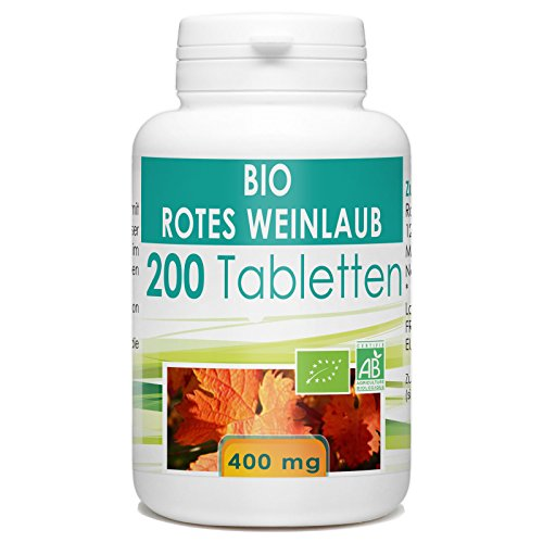 Bio Rotes Weinlaub 400mg - 200 Tabletten