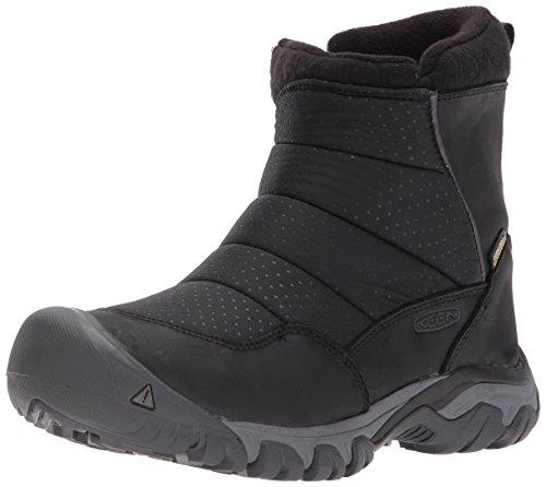 KEEN Utility Women's Hoodoo iii Low Zip-w Snow Boot, Black/Magnet, 7 M US