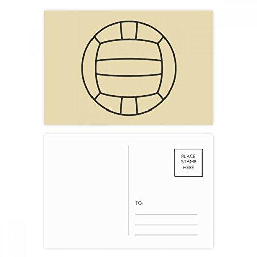 DIYthinker Volleyball Sport Line Zeichnung Muster Postkartenset Geburtstag dankt Karte Mailing Side 20pcs 5.7 Zoll x 3.8 Zoll Mehrfarbig