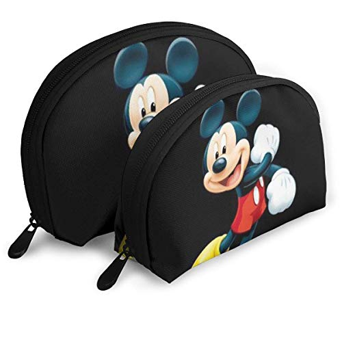 Happy Mick-EY Mouse Makeup Bag Travel Bags Small Shell Bag Portable Toiletry Clutch Pouch 2Pcs