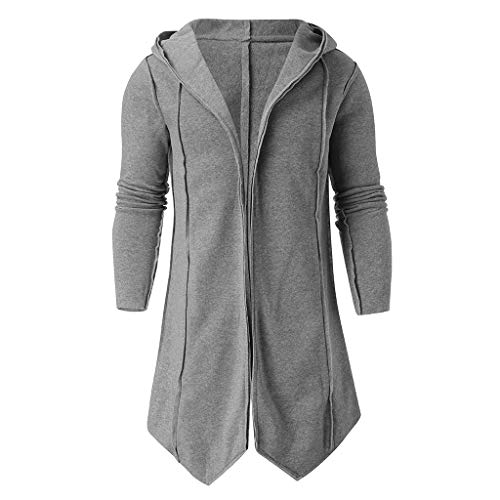 URSING Herren Robe Lange Winter Wollmantel Herren Wolle Poncho Cape Coat Vintage Pelzkragen Gothic Umhang Jacke Winter Herbst Outwear Bluse Windbreaker Warm Bequem