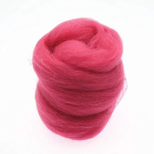 Qitao Wollfilz Farben 5g / 10g / 20g / 50g / 100g Filzwolle-Filz Stoff Filz Craft Spielzeug Filzwolle Handgemachte Filzen Craft (Color : 97, Size : 100g)
