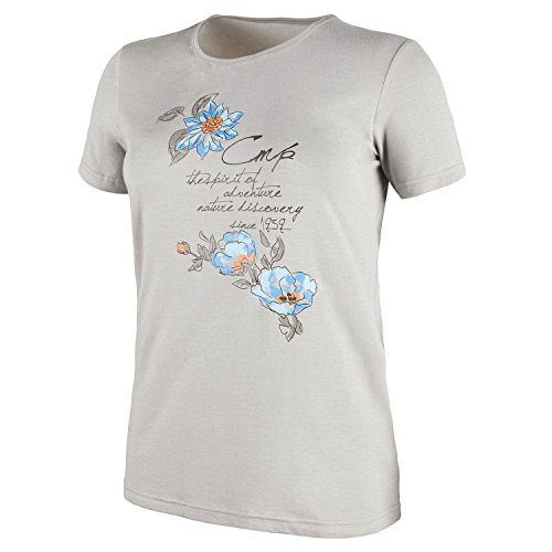 CMP Woman stretch Melange T-shirt 3t65566 - Beige - Large