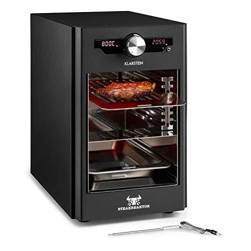 Klarstein Steakreaktor Core - Hochtemperaturgrill, 2100 W, Temperaturbereich: 200-800 °C, Indoor Grillgerät, Strahlungs-Heizelement, schwarz