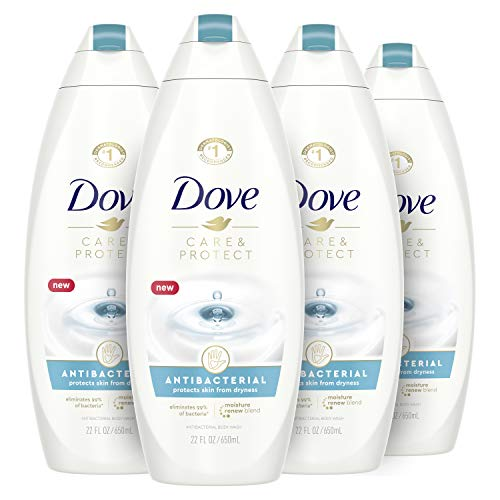 Dove Body Wash For All Skin Types Antibacterial Body Wash Protects from Dryness 22 oz 4 Count