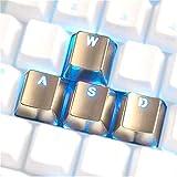 Teclado 4 Piezas de Aluminio Teclas WASD Teclas de Metal Nombres de Teclas del Perfil for los conmutadores de Teclado mecánico (Color : Arrow Silver Shining)