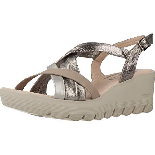 24 Horas Zapatos Cordones Mujer 24062 para Mujer Plateado 37 EU