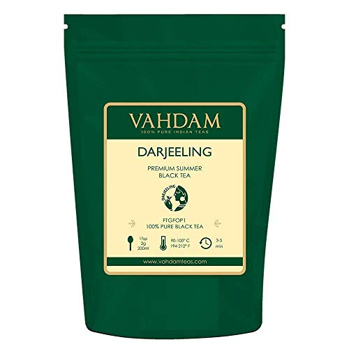 VAHDAM, hojas de té negro Darjeeling de Himalaya, 255