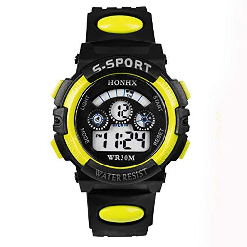 QWERTYU Kinderen Horloge Waterdicht Kind Jongen Meisje Digitale Led Smart Quartz Wekker Datum Sport Hot Koop Gift Horloge LIJIANME
