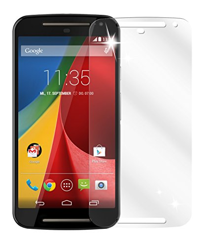 dipos I 6X Schutzfolie klar kompatibel mit Motorola Moto G (2. Generation) Folie Bildschirmschutzfolie