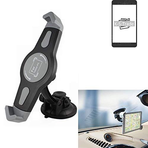 K-S-Trade Scheiben Halterung Für Archos Oxygen 101 S KFZ Tablet Saugnapf Auto Halterung Windschutzscheibe Holder Halter Scheibenhalterung Autohalterung