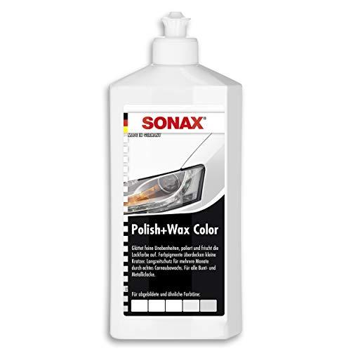 SONAX Black Polish Wax & Wax Color weiß (500 ml) Politur mit Farbpigmenten und Wachsanteilen | Art-Nr. 2960000