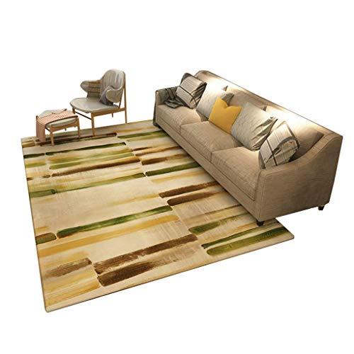 ZhaojDT Decoratie voor thuis, modern, eenvoudig, in de woonkamer, op de bank, salontafel, slaapkamertapijt, nachtkastje, rechthoekig tapijt, model van de kunst, 140 × 200 cm