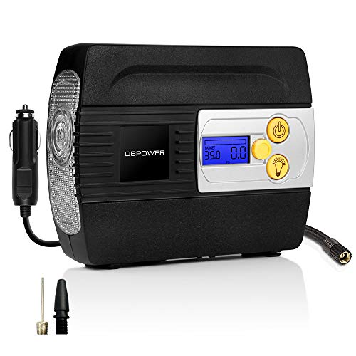 DBPOWER 12V DC Tire Inflator with Digital LCD Display and LED Lights,...