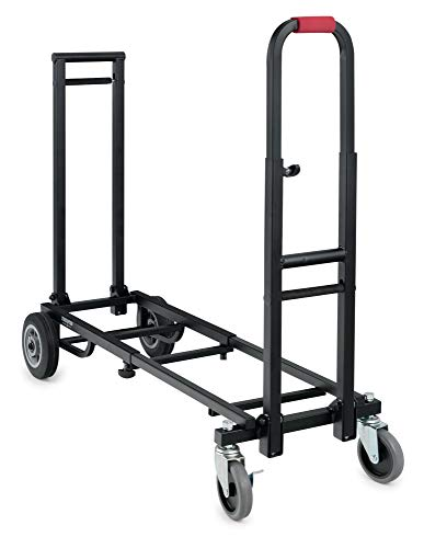 Stagecaptain SCS-60 MKII Sherpa Transportwagen - Sackkarre - Höhe: 89 cm, Länge: 63 bis 94 - Belastbarkeit: max. 100 kg - Gewicht: 9,1 kg - schwarz