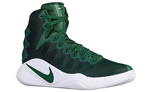 Nike Women's Hyperdunk 2016 Basketball Shoes (6.5 B(M) US, Gorge Green/Metallic Silver)