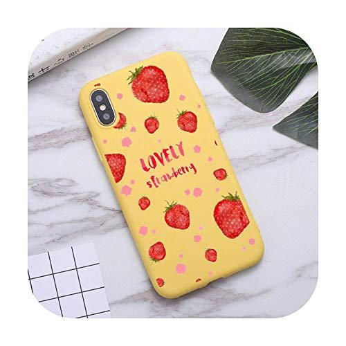 Color rosa fresa fruta alimentos teléfono caso caramelo para iPhone 6 7 8 11 12 s mini pro X XS XR MAX Plus-a3-iphone 12 mini