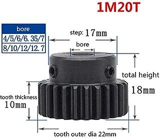 1 Mod 20T Spur Pinion Gear #45 Steel Motor Gears Bore 4/5/6/6.35/7/8/10/12MM (8mm)