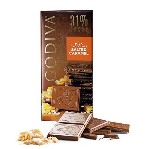 Godiva Tavoletta di Cioccolato al Latte 31% Caramello Salato, 100 g