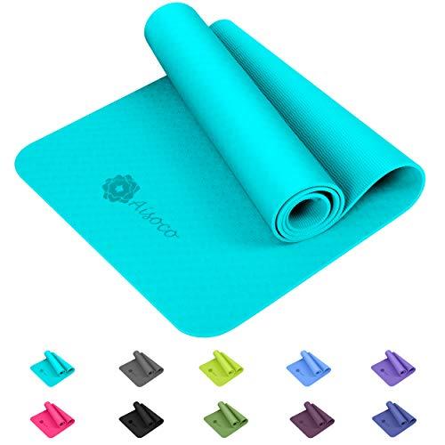 Aisoco Premium TPE Yoga Mat Pilates Mat - Ecológico, Antide