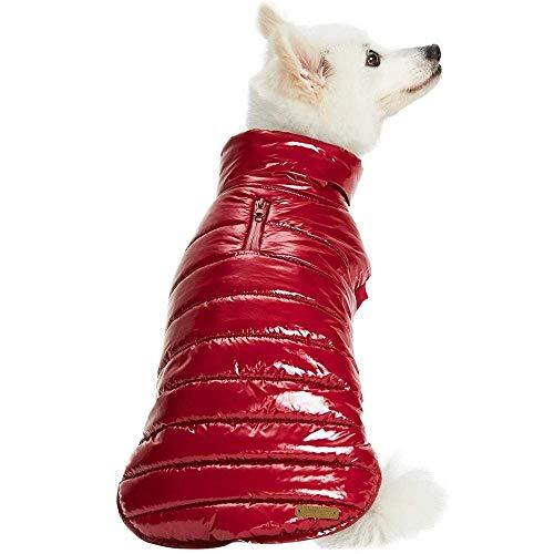 Blueberry Pet Cozy & Comfy - Chaqueta acolchada para perro (25 cm), color rojo burdeos, abrigo cálido para perros pequeños