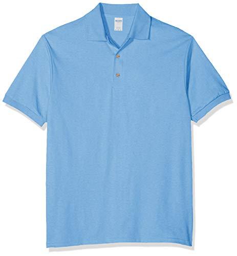 GILDAN Men's DryBlend Adult Jersey Polo Shirt, Blue (Carolina Blue), X-Large