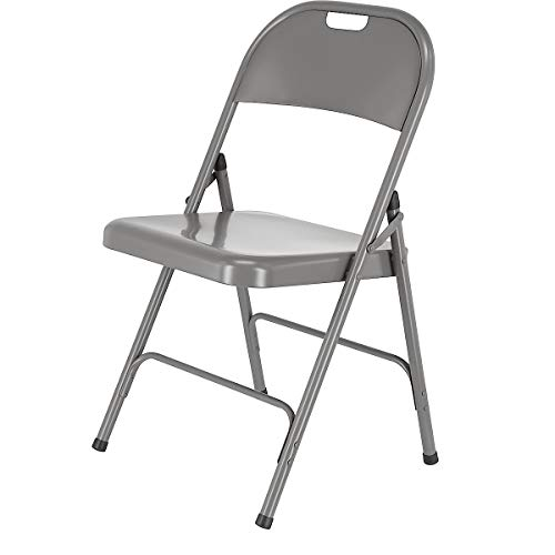 Clas Ohlson Folding Chair Metal - Easy Store Office, Desk Chairs, Seating Events, Size 78 cm x 46.5 cm x 45 cm (Grey)