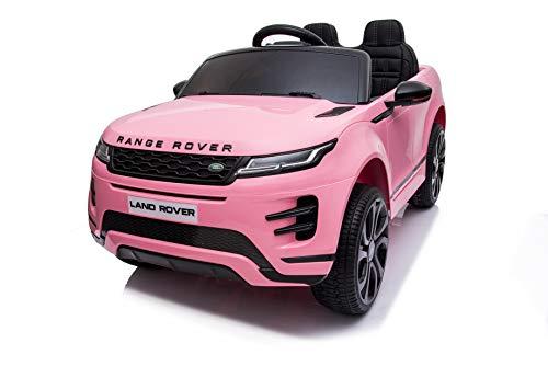 Babycar Range Rover Evoque ( Rosa ) Nuova con Monitor Touch Screen Mp4, Sedile in Pelle Macchina Elettrica per Bambini Ufficiale con Licenza 12 Volt Batteria con Telecomando 2.4 GHz