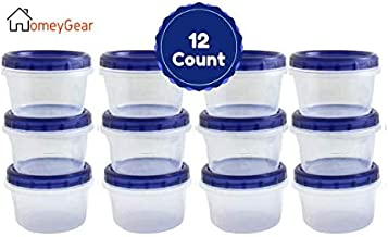 Twist Top Food Containers Screw And Seal Lid 16 Oz Stackable Reusable Plastic Storage Container 12 Pack, GREAT QUALITY