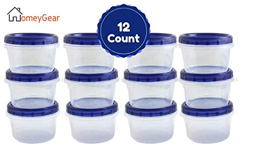 Twist Top Food Deli Containers Screw And Seal Lid 16 Oz Stackable Reusable Plastic Storage Container 12 Pack, GREAT QUALITY