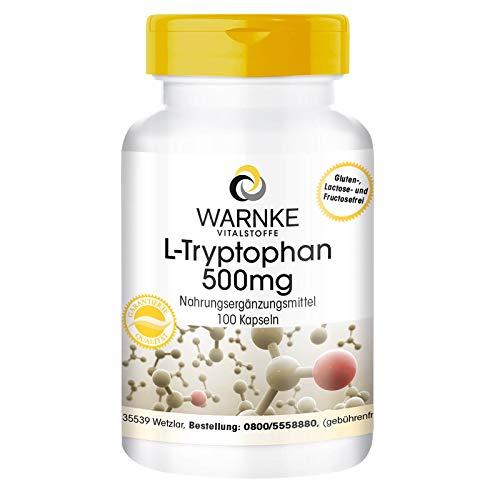 L-Triptófano 500mg – Vegano – 100 cápsulas