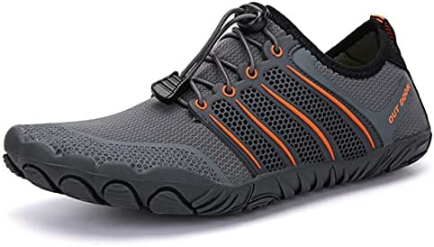 YINI Unisex Swimming Water Shoes Men Barefoot Outdoor Beach Sandals Upstream Aqua Shoes Plus Size Nonslip River Sea Diving Sneakers (Color : 27, Shoe Size : 37)