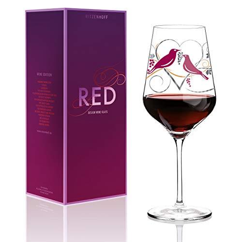 Ritzenhoff Red Weinglas, Glas, Mehrfarbig, 9,4 x 9,4 x 24 cm