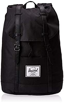 Herschel Retreat Backpack, Black/Black, Classic 19.5L