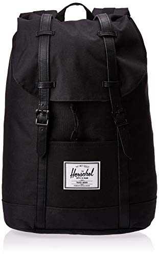 Herschel - Casual day Pack Unisex adulti, Black/Black PU (Multicolore) - 10066-00535-OS