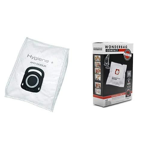 Rowenta ZR200720 Bolsas de Aspiradoras de Higiene, 4 Piezas + Wonderbag Compact WB305120 Pack de 5 bolsas para aspiradora