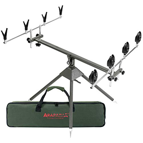 Juego de soportes para caña de pescar con soportes e indicadores de...
