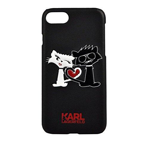 Karl Lagerfeld KLHCP7CL1BK Choupette in Love TPU Schutzhülle für Apple iPhone 7 schwarz