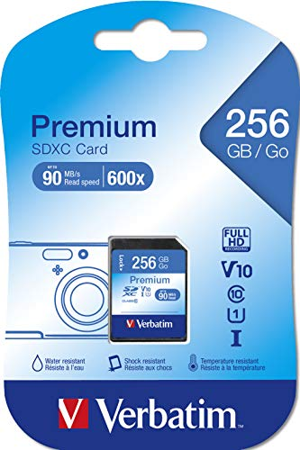 Verbatim Flash Card SD 256GB, Nero