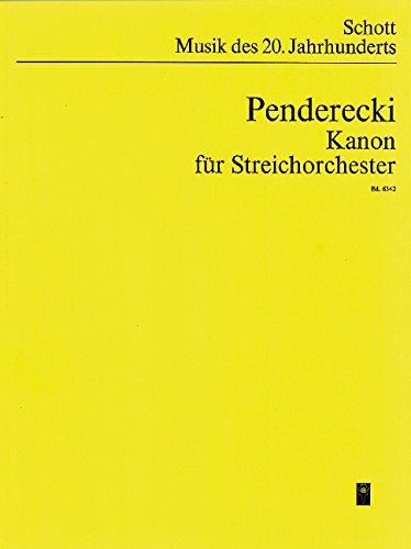 Kanon: für Streichorchester und Tonband. Streicher und Tonband. Studienpartitur. (Musik unserer Zeit)