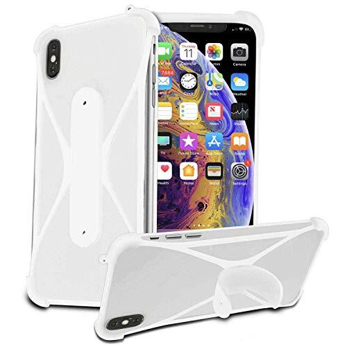 Stretchy Silicone Soft Phone Bumper X-Shape Design Case Cover for Lenovo A5000 5'