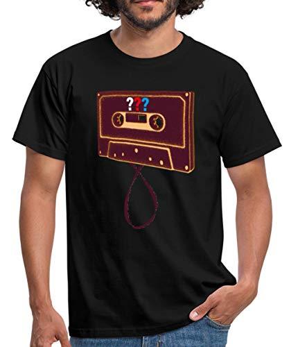 Spreadshirt Die DREI Fragezeichen Kassette Männer T-Shirt, XXL, Schwarz