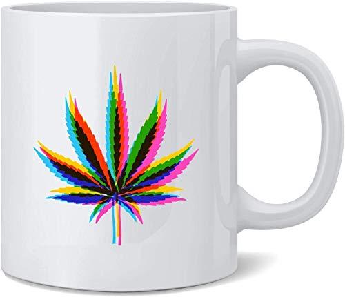 Keramik-Kaffeetasse, Motiv: Weed Mirage Pot 420, 325 ml