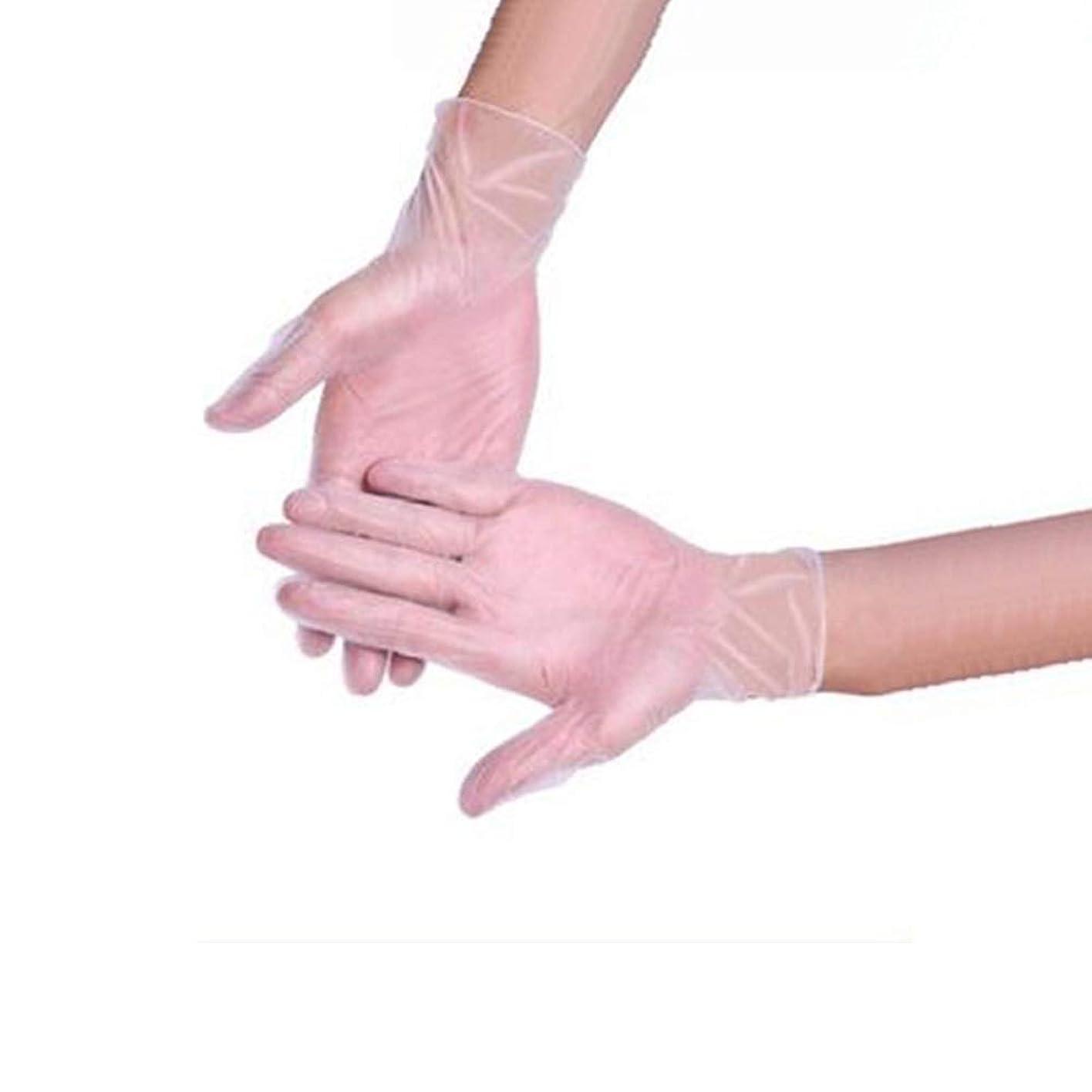 批判お手伝いさん突進食品ベーキング手袋美容ネイル使い捨て手袋クリーニング帯電防止手袋箱入り500のみ YANW (色 : トランスペアレント, サイズ さいず : Xl xl)