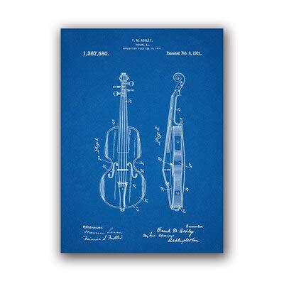 Geiger Poster Boy Raumdekoration Retro Blaupause Leinwand Malerei Geschenk Kreative Musik Zimmer Wanddekoration 30x40cm