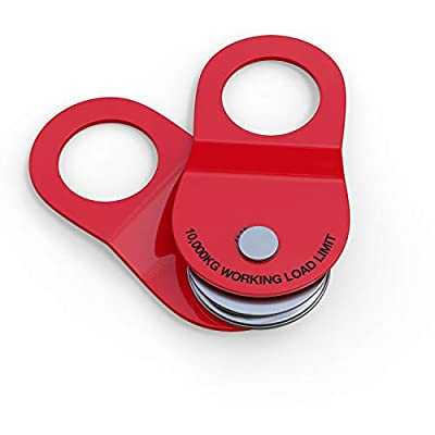 leofit Recovery Winch Snatch Block 22000LB/10T Capacity Heavy Duty Off-Road Emergency Accessories (Red)