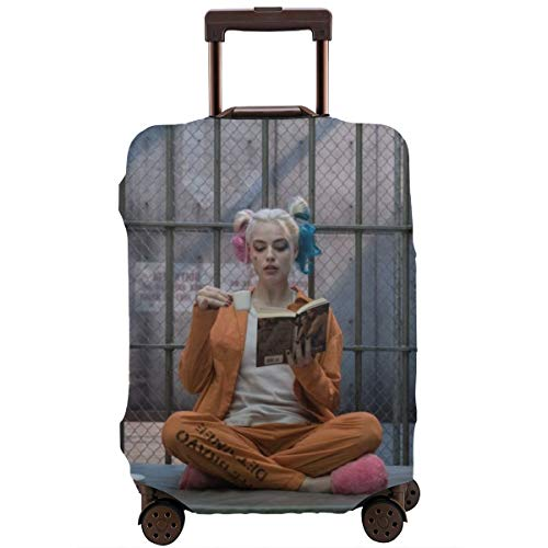 Harley Quinn Clown Girl Luggage Cover, Baggage Protective, Travel Elastic Suitcase Protecter Personalized Invisible Zipper Travel Suitcase Protector 4 Sizes £¨18-32 Inch£L